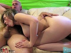This dude falls prey to her charms. Bootyful sexpot climbs on top of her lover's face so he can lick her wet pussy. Horny dude licks her twat like a true cunt licker.