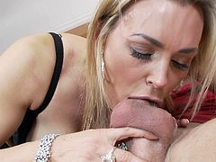 Cock riding beauty, Tanya Tate, screams of high pleasure and begs her guy to fill up her mouth
