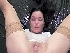 Fist having sex my Sleaze wifes grunt and soaking her inside Sleaze piss till she orgasms