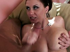 Sara Stone lets man drill her sweet mouth
