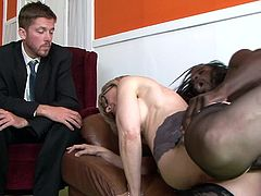 How amazing is for them to get ravished while hubby is watching them
