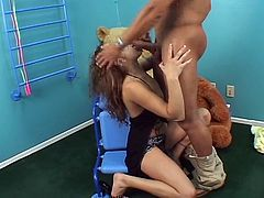 Not all sweet moms stay sweet forever as this lovely brunette momma goes really nasty for a huge boner drilling her cunt.