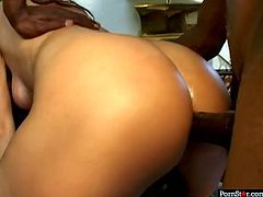Melanie Jagger is a craving for big cocks slut. She is ready to serve all dudes around. For this ones two kinky studs drill her muff and ass hole in hot DP sex tube video.