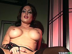Make sure you don't miss stunning brunette MILF Jessica Jaymes in this kinky solo session. She is wearing her favorite lingerie and wants to experience a deep orgasm.