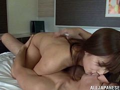 And this dude is going to be penetrating this sweetheart so fucking deep! She blows his cock and urges him to punish her! Cum is on her ass.