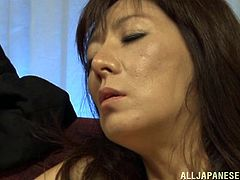 Take a look at this amazingly sexy mature Japanese woman. Her man takes her pantyhose off and licks her inner thighs. Watch as he moves all the way down to her feet and sucks on her beautiful toes. He pulls down her panties and fingers her from behind.