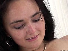 No stud wants to bang that fat hairy vagina. So this hefty figured torrid hoe with massive boobs decides to shave it properly...Look at this ugly vagina in Fame Digital porn video!