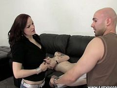 Janessa Jordan and her brunette GF are playing dirty games with a bald nerd indoors. The bitches lick each other's twats and suck the guy's wang and then allow the man to fuck their snatches doggy style.