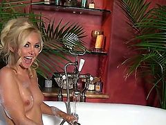 Watch the fascinating scene with blonde diva Aaliyah Love spending nice time alone! She is taking hot bath and talking dirty having nice pussy play during that.