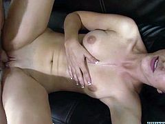 Incredibly drunk brunette MILF had dirty gangbang fuck ever