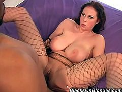 Interracial porn video featuring this charming milf Gianna Michaels. She is blowing that huge one to be poked from behind. Nice!