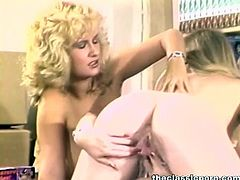 The Classic Porn brings you an amazing free porn video where you can see how three vintage lesbian belles play at the office and dildo their cunts into huge orgasms.