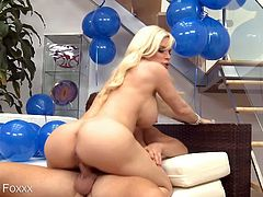 Eat Sleep Porn brings you a hell of a free porn video where you can see how the vicious and busty blonde Diamond Foxxx gets banged hard and deep into a massively intense orgasm.