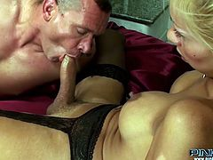 Horny and sexy shemale fucks the guy in his butthole and the other one gets her tool sucked at the same time. Have a look at this bitches in Pinko Shemale xxx video.