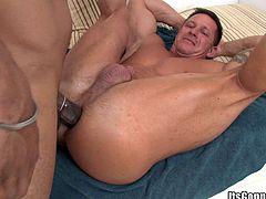 Make sure you take a look at this rough gay scene where this guy sucks on a big black cock before being drilled up his tight asshole.