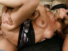 Blonde Klarisa Leone finds herself getting used in the ass way again