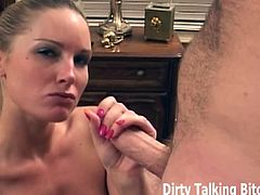 Dirty Talking Bitches brings you a hell of a free porn video where you can see how this alluring mistress rewards her very horny slave with a pov blowjob.