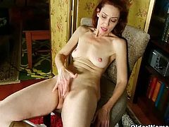 Older Woman Fun brings you a hell of a free porn video where you can see how a skinny redhead mature rubs her sweet pink cunt while assuming very interesting poses.