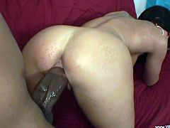 Watch this interracial scene where the busty brunette Kendra Secrets is nailed by a black monster cock that leaves her with a mouthful of semen.