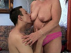 Lady Bella might be old enough to get social security, but she still loves it when she gets that mature pussy pounded hard.