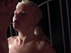 Naughty blonde girlfriend enjoys watching her boyfriend diving between her legs. he licks her snatch and tickles her clit with playful tongue. At the end she swallows his cock and tries to get a portion of slime dessert.