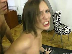Light haired skinny bitch with small tits gave her freaky guy passionate deep throat. Afterwards she enjoyed getting her pierced kitty banged in doggy position energetically. Have a look at this kinky chick in Fame Digital porn clip!