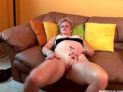 Make sure you don't miss this granny named Champagne spreading legs for all of her fans. She shows her big pussy and starts fingering till a deep and wet orgasm.
