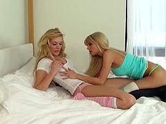 Stunning babes Hayden Hawkens and Jana Jordan got turned on early in the morning. They used to make out everytime they get horny but nothing beats an early morning lesbian fun.