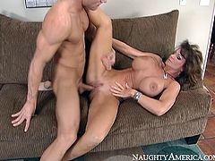 This experienced whore needs a good pussy workout. Horny dude Johnny Sins knows how to make this woman happy. He spreads her legs wide and pounds her twat ruthlessly in and out pushing her to the edge of powerful orgasm. Then she rides his rock hard cock in reverse cowgirl position.