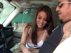 Voracious bitch with nice boobs starts to give a head in the car and continues in the house. Have a look at this bitch in All Porn Sites Pass sex video.