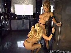 Make sure you have a look at this hot BDSM where these sexy blondes please each other with sex toys after one of them in tortured by the other.