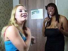 Kinky curvy light haired whore spreads her legs and gets her wet pussy licked on the sofa by the black girl. Have a look at these lesbians in All Porn Sites Pass sex clip.