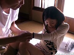 Pretty Kaho Kasumi gives a handjob and gets nailed hard