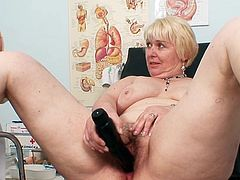 Insolent gyno exam to stretch her creamy vag and cause mature lady a lot of naughty sensations