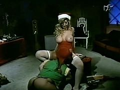 Watch this horny and slutty blonde babe getting fucked rally hard by a little elf who loves wet and tight pussy in The Classic Porn sex clips.