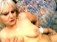 Woman fucking and sucking monster cock.