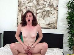 Hot Bush brings you a hell of a free porn video where you can see how the hot redhead Emma O'hara gets banged very hard into a breathtakingly intense orgasm.