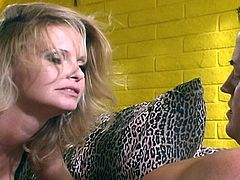 Horny blonde mature woman gets her pussy pounded hard by big dick. This sexy milf masseuse adds a little extra to the session which includes a blow job and dick suck