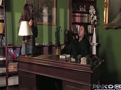 Dark haired bodacious strumpets with big tits were incredibly sex hungry. They planned to have steamy FFM fuck and put on some sexy suits. Look at that horny chicks in Pinko HD sex video!