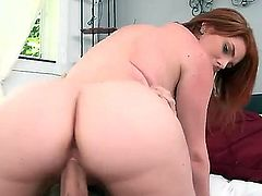Monster curves 1on1. Staring Rainia Belle and Tony Rubino. She has such a curvy body, her man cant take his mind off her. This sexy red haired babe gives him a great blowjob in the shower. Then she she sits down and rides his cock until he cant take anymore. Great hardcore action.