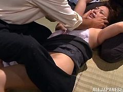Japanese girl is going to get rapped tod