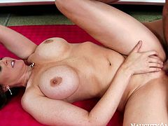 Gorgeous blonde Julia Ann rides Johnny Castle's dick like a cowgirl