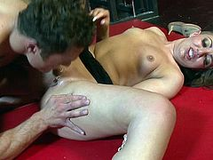 This appealing chick is amazingly hot when going wild with the guy's dick during rough oral scenes