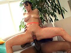 Take a look at this ravishing brunette and check out her fantastic cock sucking skills. She worships that black dick and craves more.
