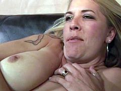 Attractive and sexy brunette with awesome ass gets her dripping pussy fucked by the strapon on the body of hot blond. Have a look at these chicks in All Porn Sites Pass xxx clip.