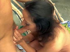Curly and sexy dark haired bitch with nice ass gets her dripping pussy fucked hard riding a cock in cowgirl pose. Have a look at thus bitch in All Porn Sites Pass sex video.