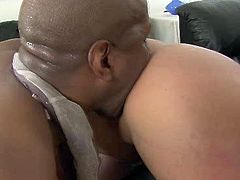 Mature porn actress Phoenix Marie takes massive black dick in her butt hole in sideways position. Then, brutish black stud bangs her ass doggy style.