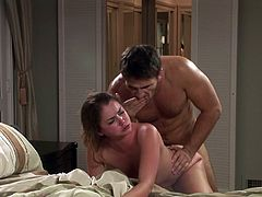 Before getting married, Allie Haze is eager to have one last fuck with this horny hunk