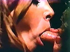 Horny and attractive blond haired bitch with nice ass tries to swallow the cock. Have a look at this whore in The Classic Porn xxx clip.