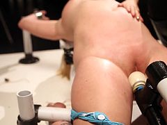 Wild BDSM scene in which slutty chick gets stimulated in a very naughty and bizzare way during femdom